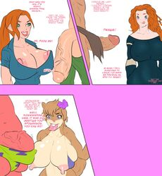 5ifty ben_10 ben_tennyson big_penis brave bulge cartoon_network curvy dialog erect_nipples furry gwen_tennyson huge_balls huge_breasts huge_cock imminent_sex incest jay-marvel licking_lips merida nipple_slip patrick_star penis_awe sandy_cheeks spongebob_squarepants text tongue_out veiny_penis