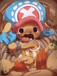 anal anal_sex antlers balls blush cervine dagasi fur gay hat horn male mammal one_piece open_mouth penetration penis pussy reindeer saliva sex tears tongue tony_tony_chopper yaoi