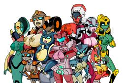 arcee botanica breasts coloured e! elita-1 flareup glyph huge_breasts large_breasts lickety-split lightbright override override_prime red_alert rosanna transformers transformers_animated