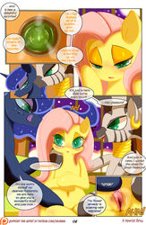2015 blue_hair comic dialogue drink ear_piercing english_text equine female female/female fluttershy_(mlp) friendship_is_magic group hair half-closed_eyes horse inside licking licking_lips long_hair mammal my_little_pony navel open_mouth piercing pink_hair pony princess_luna_(mlp) pussy saurian_(artist) sitting smile text tongue tongue_out zebra zecora_(mlp)