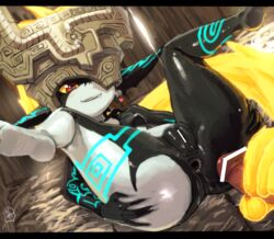 anus censored cum female heart lying male midna nintendo penis presenting pussy red_eyes spreading the_legend_of_zelda twilight_princess video_games
