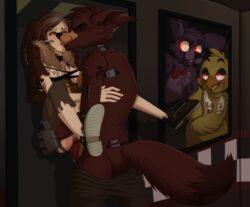 against_the_door animatronic anthro ass avian balls beak being_watched bird bonnie_(fnaf) bow breasts canine chica_(fnaf) chicken closed_eyes clothed clothing cum cum_in_pussy cum_inside cum_on_balls cum_on_penis cum_on_pussy erection eyes_closed female five_nights_at_freddy's footwear fox foxy_(fnaf) fur glowing glowing_eyes half-closed_eyes half-dressed human human_on_anthro interspecies kissing lagomorph lift long_ears machine male male/female mammal mechanical nipples nude orgasm pants penetration penis pirate pussy rabbit robot scar scratches sex shirt shoes smile standing thumbs-up torn_clothing vaginal_penetration video_games xnirox