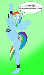 2015 anthro areola big_breasts blush breasts english_text equine erect_nipples female friendship_is_magic jrvanesbroek mammal my_little_pony nipples nude pegasus pussy rainbow_dash_(mlp) solo text wings