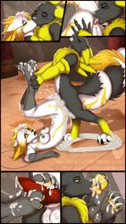 2015 anal anthro ass balls bandai breasts chinese_dragon cum cum_inside digimon dragon fan_character female foot_fetish footjob grope kissing knot licking licking_foot light_(rukaisho) male mark_haynes oral orgasm paws penis pussy renamon rimming sex tongue tongue_out