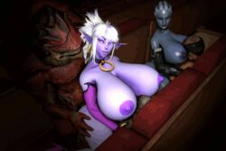 3d after_sex anal animated asari ass big_breasts blue_skin bouncing_breasts collar cowgirl cowgirl_position crossover curvy double_penetration dreamhawk elf female from_behind gigantic_breasts huge_breasts hyper_breasts interspecies krogan liara_t'soni looking_at_viewer manaworld mass_effect monster nude old_man pointy_ears purple_eyes purple_skin source_filmmaker syx theater thick_thighs unconscious urdnot_wrex white_hair