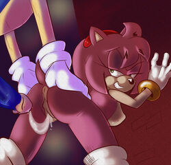 after_sex amy_rose anthro anus ass big_breasts breasts cum cum_in_pussy cum_inside erection female hedgehog male mammal penis pussy sonic_(series) sonic_the_hedgehog toufu_(artist)