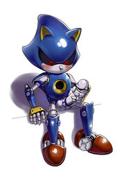 7624cq animal_ears anthro balls blush cat_ears erection hedgehog looking_down machine male mammal masturbation mechanical metal_sonic nude penis pointy_nose robot sitting solo sonic_(series) video_games