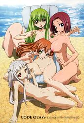4girls :p absurdres arm_support artist_request ass barefoot bent_over blue_eyes breasts c.c. cc code_geass copyright_name feet flat_chest green_hair highres kallen_stadtfeld large_breasts long_hair looking_at_viewer mound_of_venus multiple_girls navel nipples nude nude_filter open_mouth orange_eyes orange_hair photoshop pool poolside pussy red_hair shadow shirley_fenette short_hair tabata_hisayuki tianzi tongue tongue_out uncensored very_long_hair white_hair yellow_eyes