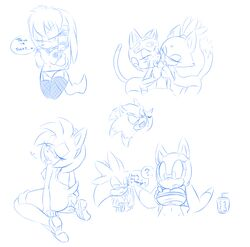 amy_rose blaze_the_cat hearlesssoul julie-su marine_the_raccoon polly_esther samurai_pizza_cats silver_the_hedgehog sonic_(series) sonic_the_hedgehog sonic_the_werehog