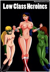 anal artemis blowjob buttlicking dc double_insertion female_fox groupsex justice_league killer_frost lady_blackhawk miss_martian raven starfire stargirl super_girl tentacle tigress undressing vaginal_penetration wipping wonder_woman yuri