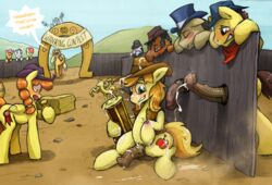 :o after_masturbation animal_genitalia apple_bloom_(mlp) applejack_(mlp) balls being_watched blonde_hair blush braeburn_(mlp) contest cum cum_on_face cum_on_ground cum_on_hands cum_on_penis cum_on_tail cum_on_thighs cumshot cutie_mark english_text equine erection female friendship_is_magic fur furry_only hair half-closed_eyes half-erect hat horse horsecock male mammal my_little_pony open_mouth orange_fur orange_hair orgasm outside penis pony record_high_(mlp) scootaloo_(mlp) smile sweat sweetie_belle_(mlp) teeth text tongue vein veiny_penis wingbonermaker yellow_fur