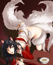 ahri female female_only league_of_legends solo tagme underwear