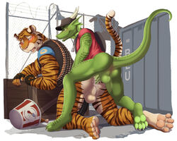 anal biceps birthday bucket bullet crate cum dragon dream_and_nightmare duo feline furry gay gift homosexual male male/male mammal muscles penis team_fortress_2 tiger video_games