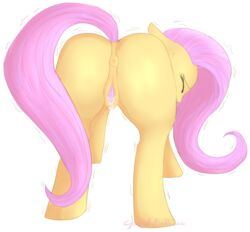 alpha_channel anus clitoris closed_eyes cycloned embarrassed equine female fluttershy_(mlp) friendship_is_magic fur hair horse mammal my_little_pony pink_hair plain_background pony pussy pussy_juice solo transparent_background yellow_fur