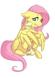 alpha_channel animal_genitalia balls big_penis cycloned dickgirl embarrassed equine erection fluttershy_(mlp) friendship_is_magic fur hair horsecock intersex looking_at_penis mammal my_little_pony pegasus penis pink_hair plain_background solo teeth transparent_background wings yellow_fur yellow_penis