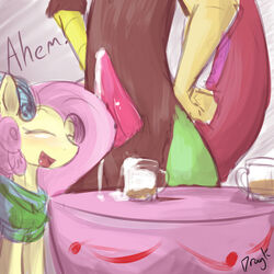 alcohol beverage brown_fur closed_eyes cum cum_on_penis discord_(mlp) draconequus dragk duo equine erection faceless_male female fluttershy_(mlp) friendship_is_magic fur hair horse inside knot male male/female mammal my_little_pony open_mouth penis pink_hair pony scalie smile tapering_penis tongue yellow_fur