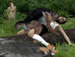3d bite canine canine canis3 cgi female feral forced german_shepherd group human human_on_feral interspecies joelle male mammal rape sex zoophilia