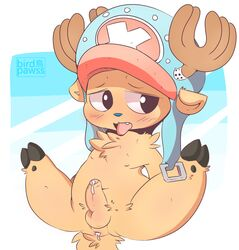 antlers anus balls birdpawss blush cervine cum cum_inside cute deer digital_media_(artwork) erection hat horn leaking leaking_anus legs_up looking_away male male_only mammal nipples nude one_piece open_mouth penis precum reindeer sex shy solo spread_legs spreading thick_thighs tongue tongue_out tony_tony_chopper uncut
