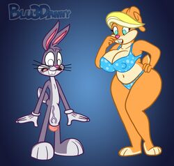 anthro big_breasts blu3danny breasts bugs_bunny female fur furry furry_only lagomorph looney_tunes male mammal patricia_bunny penis rabbit the_looney_tunes_show warner_brothers wide_hips
