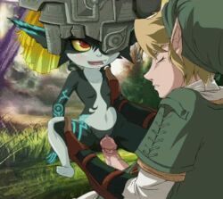 animated blonde_hair closed_eyes cock flat_chest link midna mouth_open penis pussy red_eyes sex the_legend_of_zelda twilight_princess vaginal_penetration wet wet_pussy