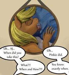 anthro anthrofied anus applejack_(mlp) blonde_hair blue_fur clitoris closed_eyes cunnilingus duo english_text equine female female/female friendship_is_magic fur hair horse mammal my_little_pony nude open_mouth oral orange_fur plain_background pony pussy rainbow_dash_(mlp) sex solo_focus spread_legs spreading teeth text tongue tongue_out vaginal_penetration xenstroke
