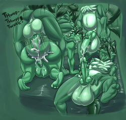 3_toes 4_toes amber_eyes anal anal_sex animal_genitalia anthro ass backsack balls big_balls big_penis canine canine_penis chubby cum cum_in_ass cum_in_mouth cum_inside cum_on_penis deimion_j_shadowwolf feet fucked_silly fur green_eyes group group_sex hair hindpaw huge_balls hyper hyper_balls hyper_penis knot male male/male mammal masturbation nude open_mouth paws penetration penis plantigrade precum sex size_difference soles tailwag toes tongue tongue_out vein wolf
