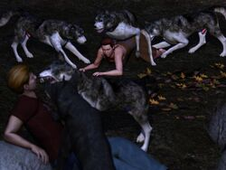 3d canine canis3 feral forced human interspecies lizzie male mammal rape wolf zoophilia