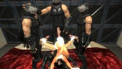 3d anthro balls bed bukkake clothed clothing cum dildo female garry's_mod group handjob human human_on_anthro interspecies larger_male lola_bunny male male/female mammal ninja_gaiden nude on_bed penis ryu_hayabusa sex_toy size_difference smaller_female