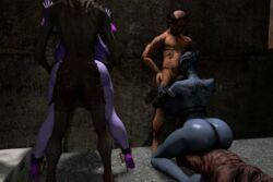 3d against_wall alley animated asari big_balls blue_skin bouncing_ass collar cowgirl crossover curvy dark dreamhawk fellatio female from_behind high_heels huge_ass huge_breasts interspecies liara_t'soni male manaworld mass_effect monster nude old_man prostitution purple_skin riding straight syx tagme tattoo thick_thighs