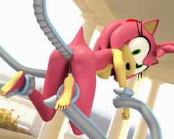 3d amy_rose animated female likkezg sonic_(series) sonic_team sonic_the_hedgehog tentacles