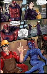 breasts comic english_text funny glasses panels red_eyes shadman team_fortress_2 text tits x-men