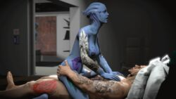 2015 3d alien animated areola asari big_breasts breasts dickgirl dickgirl/male erect_nipples erection female human intersex intersex/male ltr300 male mammal mass_effect nipples nude penetration penis sex tattoo video_games