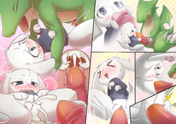 absurd_res anthro anthro_on_feral bottomless cave_story clothed clothing comic cum cum_in_pussy cum_inside dragon duo female feral fur green_body half-dressed hi_res interspecies kicktyan lagomorph larger_male male male/female mammal mimiga oral penetration penis pussy rabbit ridiculous_fit scalie sex size_difference sky_dragon smaller_female sue_sakamoto vaginal_penetration vaginal_penetration video_games white_fur wings zoophilia