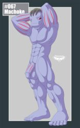 balls big_balls flaccid machoke male muscles nintendo notorious84 nude penis pokemon red_eyes solo the_pokedex_project video_games