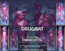 2015 advertisement alcohol anthro ass bat beverage clothing dakimakura_design distracting_watermark drugs english_text fabercastel fur hair looking_at_viewer lying male mammal nipples on_back penis shorts smoke smoking solo text watermark