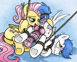 2015 anal anal_sex animal_genitalia anus ass ball_lick balls bondage cock_and_ball_torture dildo domination equine erection fan_character female female_domination feral fluttershy_(mlp) friendship_is_magic horsecock licking male mammal my_little_pony oral pegasus penetration penis precum sex sex_toy sorcerushorserus tongue tongue_out wings