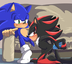 anal anal_insertion anal_sex angelofhapiness anthro anus ass dildo duo fellatio hedgehog insertion inside kneeling lube male male/male mammal oral penetration penis precum sex sex_toy shadow_the_hedgehog smile sofa sonic_(series) sonic_the_hedgehog