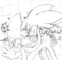 anthro chameleon cum cum_inside duo espio_the_chameleon from_behind hedgehog lizard male male/male mammal orgasm outside reptile scalie sex sonic_(series) sonic_the_hedgehog zomg