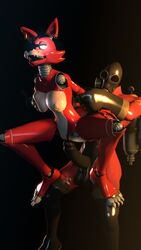 2015 3d animatronic areola big_breasts breasts cgi digital_media_(artwork) eye_patch eyewear female five_nights_at_freddy's foxy_(fnaf) gas_mask hook huge_cock machine mechanical nipple_piercing nipples on_top penis piercing pyro pyro_(team_fortress_2) reverse_cowgirl_position robot rubber rule_63 sex smile source_filmmaker standing team_fortress_2 uwotinfokm8 video_games