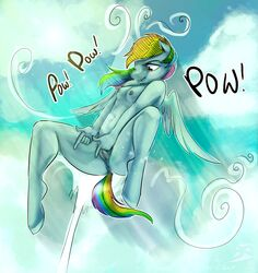 2015 anthro anthrofied anus blindcoyote cloud colored equine female friendship_is_magic glo-in-the-dark hair long_hair mammal multicolored_hair my_little_pony nude outside pegasus pussy rainbow_dash_(mlp) rainbow_hair solo spread_legs spreading wings
