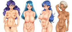 breasts censored dragon_quest dragon_quest_iii female large_breasts nipples nude priest_(dq3) sage_(dq3) sakuradou soldier_(dq3) tagme thief_(dq3)
