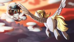 anus ass blitzdrachin blonde_hair cloud derpy_hooves equine female flying friendship_is_magic hair hooves horse invalid_tag mammal my_little_pony pegasus pony pussy sky wings