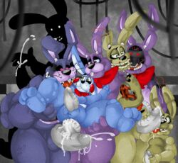 anal anal_sex animatronic anthro anus balls barefoot bonnie_(fnaf) bow buckteeth cum cum_in_ass cum_inside cum_on_penis cum_on_tongue cum_string cumshot erection faceless_male fellatio five_nights_at_freddy's five_nights_at_freddy's_2 five_nights_at_freddy's_3 five_nights_at_freddy's_4 girly glowing glowing_eyes group group_sex half-closed_eyes lagomorph licking long_ears looking_at_viewer looking_down looking_up machine male male/male mammal masturbation nightmare_bonnie_(fnaf) nude open_mouth oral orgasm orgy penetration penis plushie plushtrap_(fnaf) rabbit robot scared sex shadow shadow_bonnie_(fnaf) sharp_teeth size_difference smile spread_legs spreading springtrap_(fnaf) standing teeth thick_penis thick_thighs tongue tongue_out toy_bonnie_(fnaf) unknown_artist video_games whiskers wire