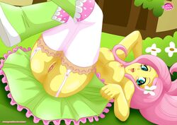 breasts equestria_girls equestria_untamed female fluttershy_(mlp) friendship_is_magic human humanized my_little_pony pink_hair pussy tagme