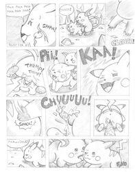 balls blush comic cum cum_inside dialogue duo english_text erection female heart licking male male/female nintendo open_mouth penetration penis pikachu pokemon raichu sex text tongue tongue_out unknown_artist vaginal_penetration vaginal_penetration video_games