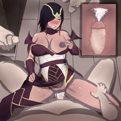 abs breasts cum cum_in_pussy karma_(league_of_legends) league_of_legends maperbozo pussy sex