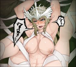 ahe_gao breasts elf female fucked_silly large_breasts mabinogi mabinogi_heroes neph nipples pointy_ears regina_(mabinogi) restrained rolling_eyes tears tongue_out