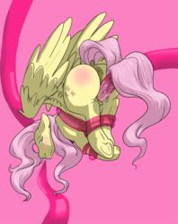 anus ass ass_up binded bondage bound butt_in_the_air equine female feral fluttershy_(mlp) friendship_is_magic fur horse long_tail mammal my_little_pony pegasus penetration pony pussy sex suspension tentacle tentacle_sex twilicious vaginal_penetration wing_boner wings yellow_fur