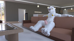 3d anthro belly canine cudacore_(artist) family_guy furry gay house jasper_(family_guy) living_room male male_only mammal nude penis piercing place solo yaoi