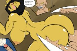 ass atari_mitsuku blush breasts cum_in_pussy d'vorah female male mortal_kombat nude x-ray yellow_skin